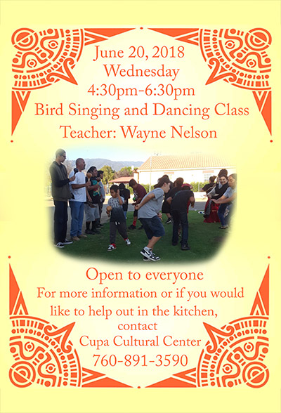 Pala Band Bird Singing Class