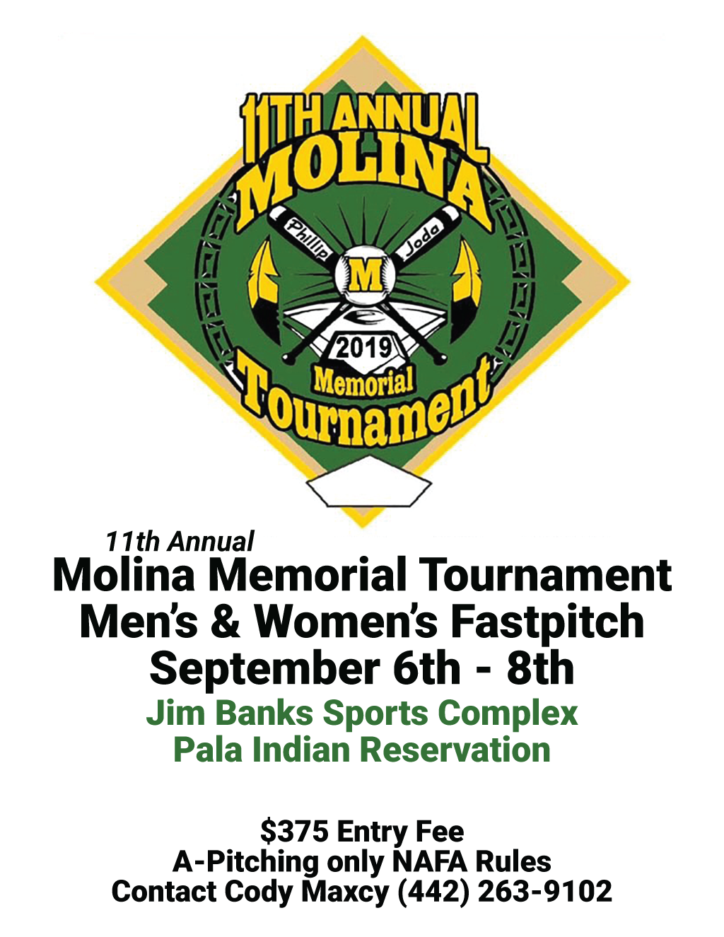 Pala Band of Mission Indians Molina Memorial Annual Tournament 2019