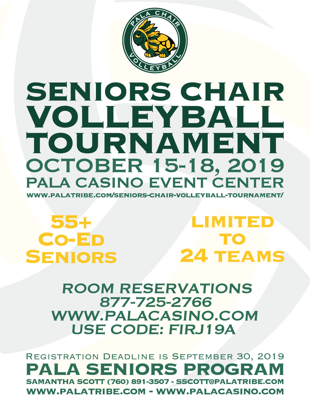 Pala Band of Mission Indians Seniors Chair Volleyball Tournament 2019 Pala Seniors Program