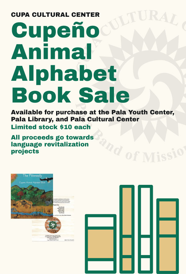Pala Band of Mission Indians Cupeno Alphabet Book Sale