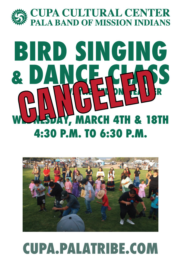 Pala Band California Cupa Cultural Center Event Bird Singing Dance Class