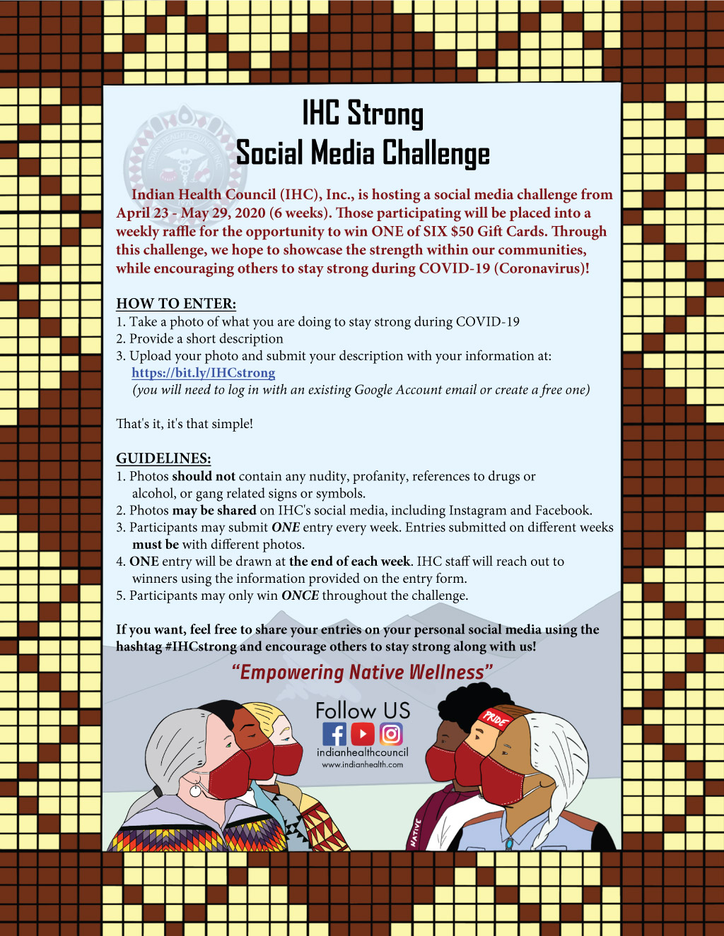 Pala Band of Mission Indians PBMI Indian Health Council IHC Rincon Strong Social Media Challenge
